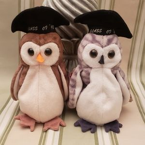 """Vintage Ty Beanie Baby """"WISE"""" Class of '98 & '99"""